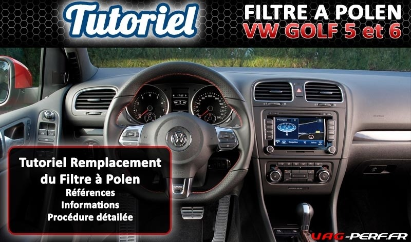 tutoriel remplacement du filtre polen sur volkswagen. Black Bedroom Furniture Sets. Home Design Ideas